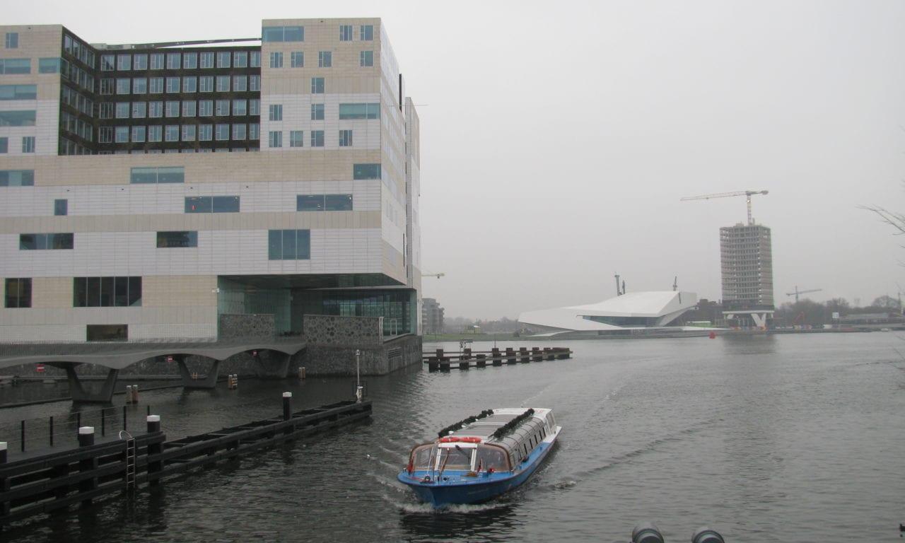 beweegbaar windscherm Paleis van Justitie Amsterdam
